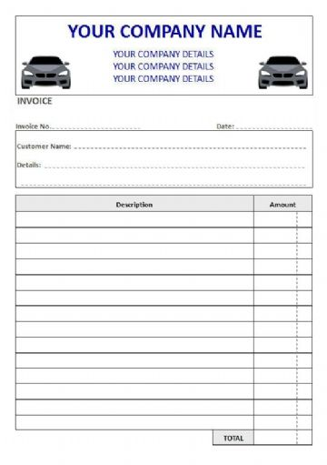 Mechanics NCR Invoice Pads & Sets, 2 Column Lined